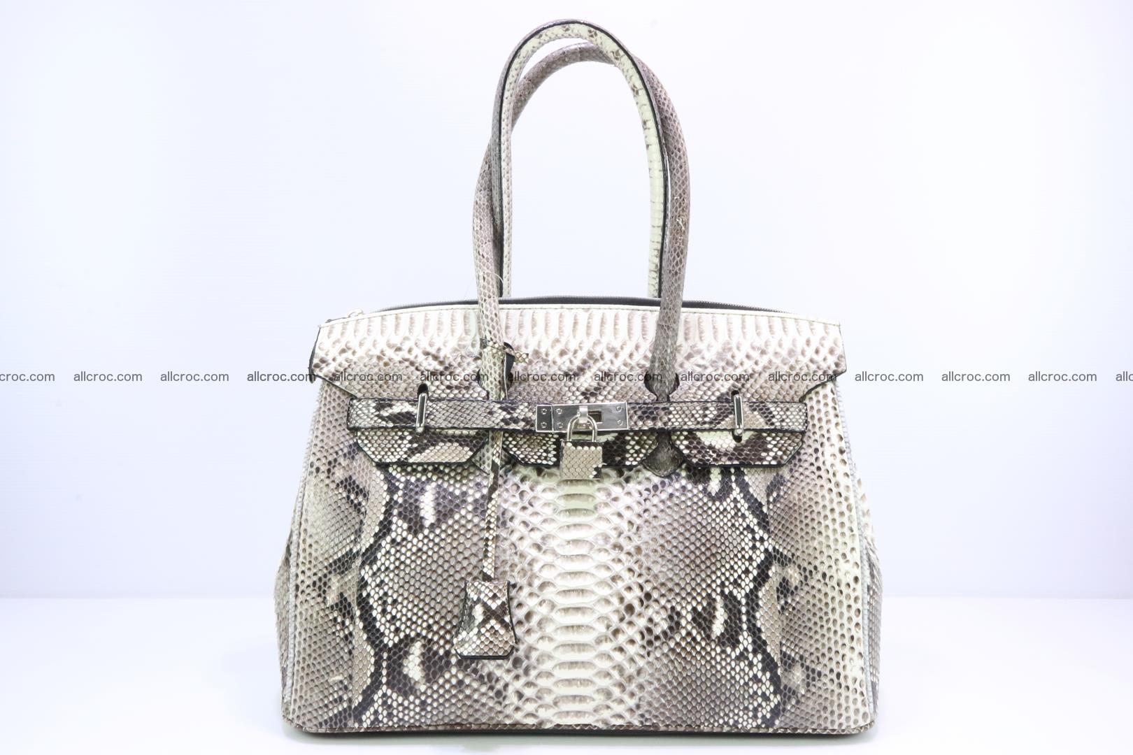 Python skin women's handbag replica of Birkin 199 Foto 0