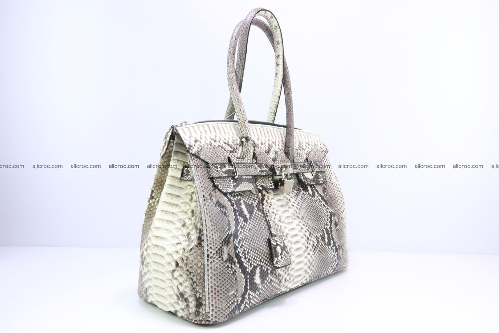 Python skin women's handbag replica of Birkin 199 Foto 1