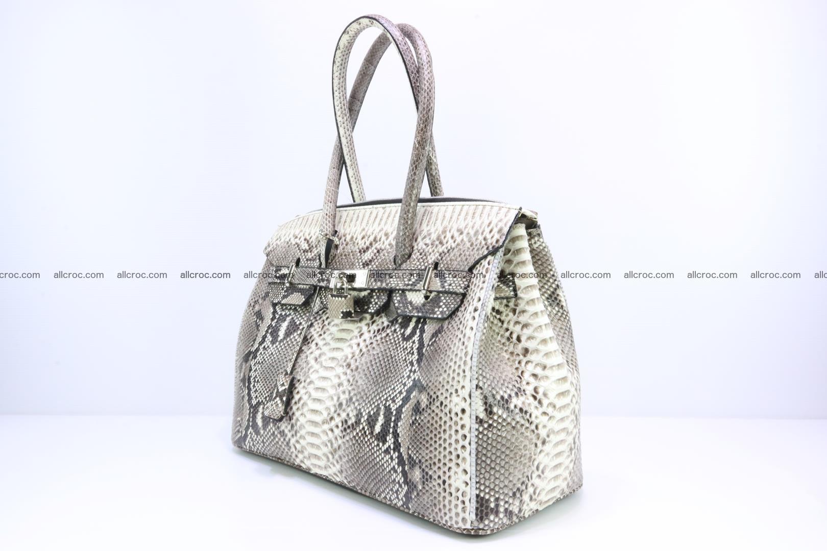Python skin women's handbag replica of Birkin 199 Foto 2