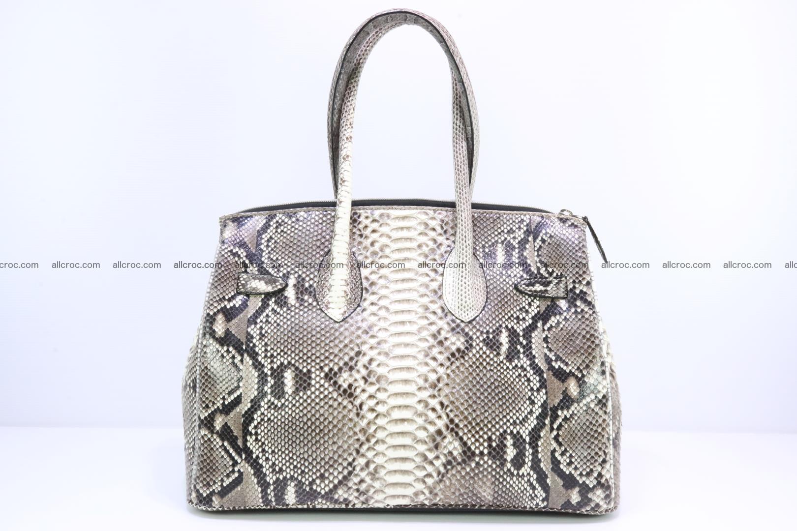 Python skin women's handbag replica of Birkin 199 Foto 3