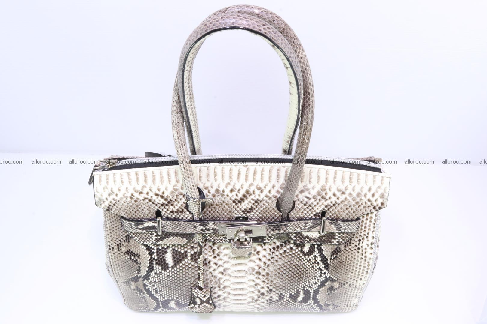 Python skin women's handbag replica of Birkin 199 Foto 5