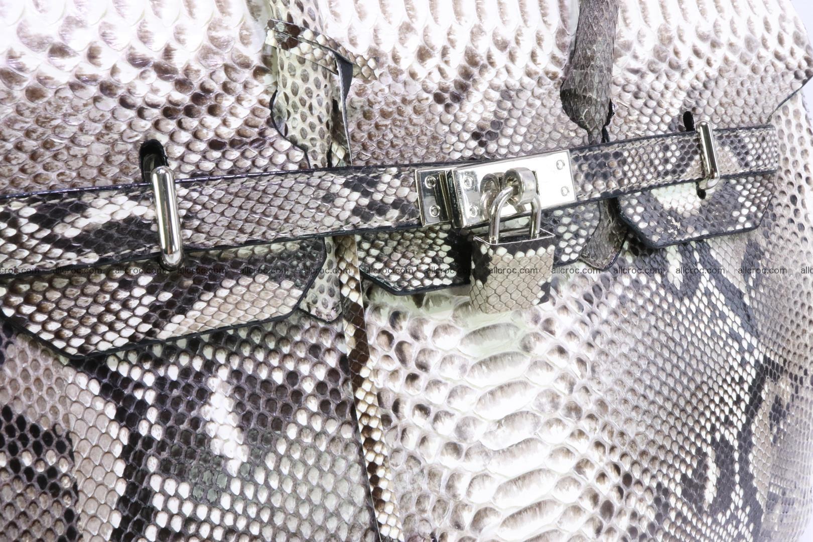 Python skin women's handbag replica of Birkin 199 Foto 8