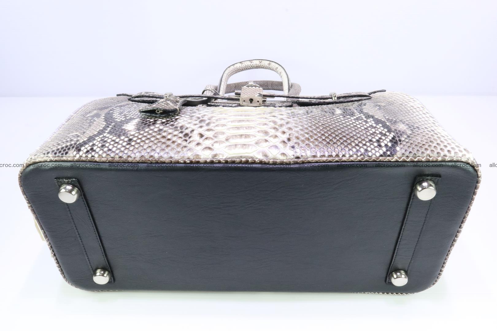 Python skin women's handbag replica of Birkin 199 Foto 7