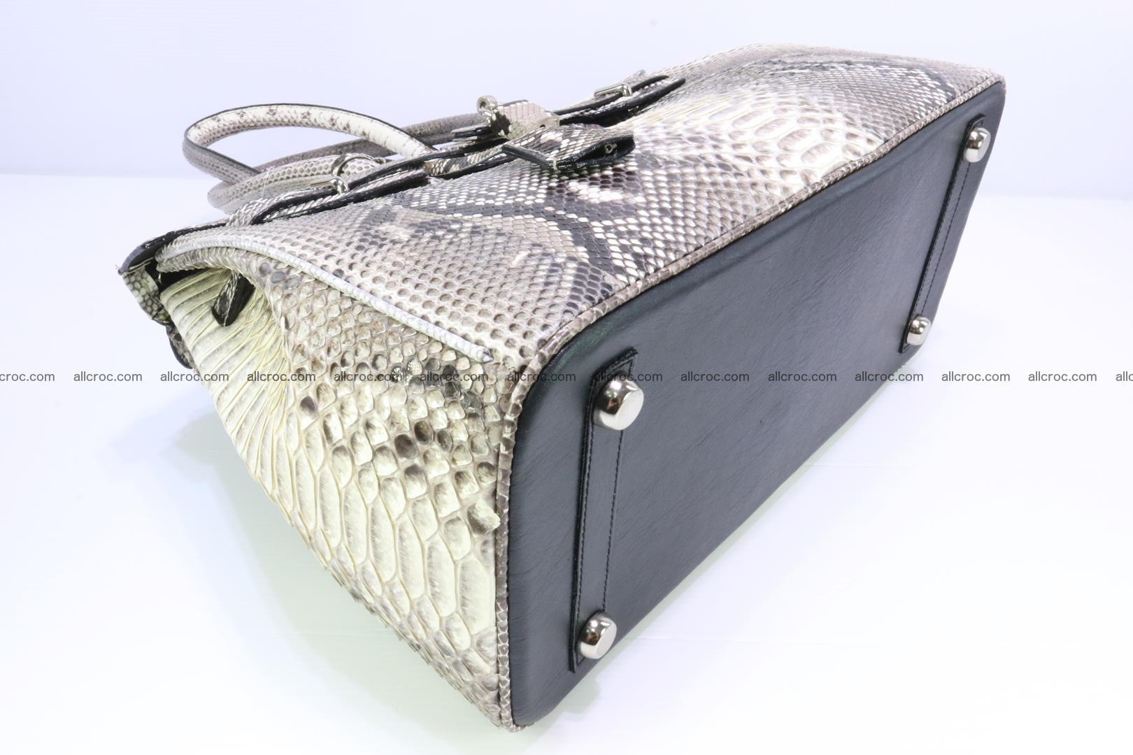 Python skin women's handbag replica of Birkin 199 Foto 9