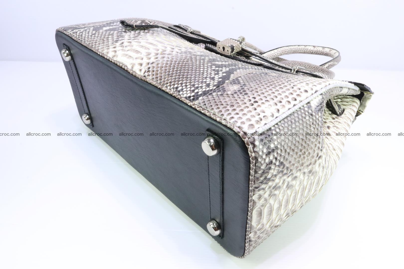 Python skin women's handbag replica of Birkin 199 Foto 10