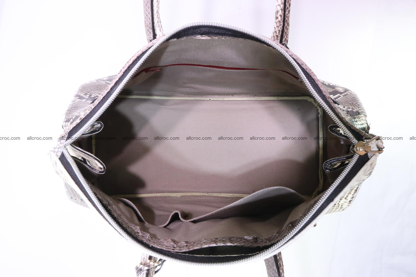 Python skin women's handbag replica of Birkin 199 Foto 11