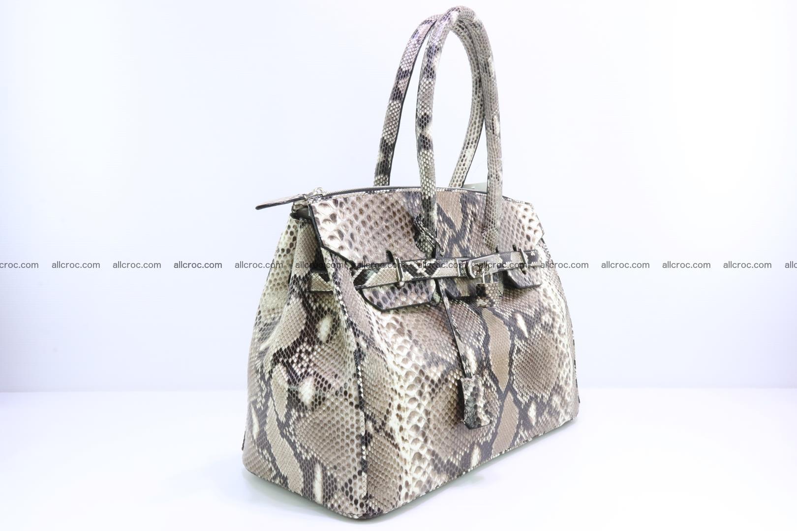 Python skin women's handbag replica of Birkin 200 Foto 1