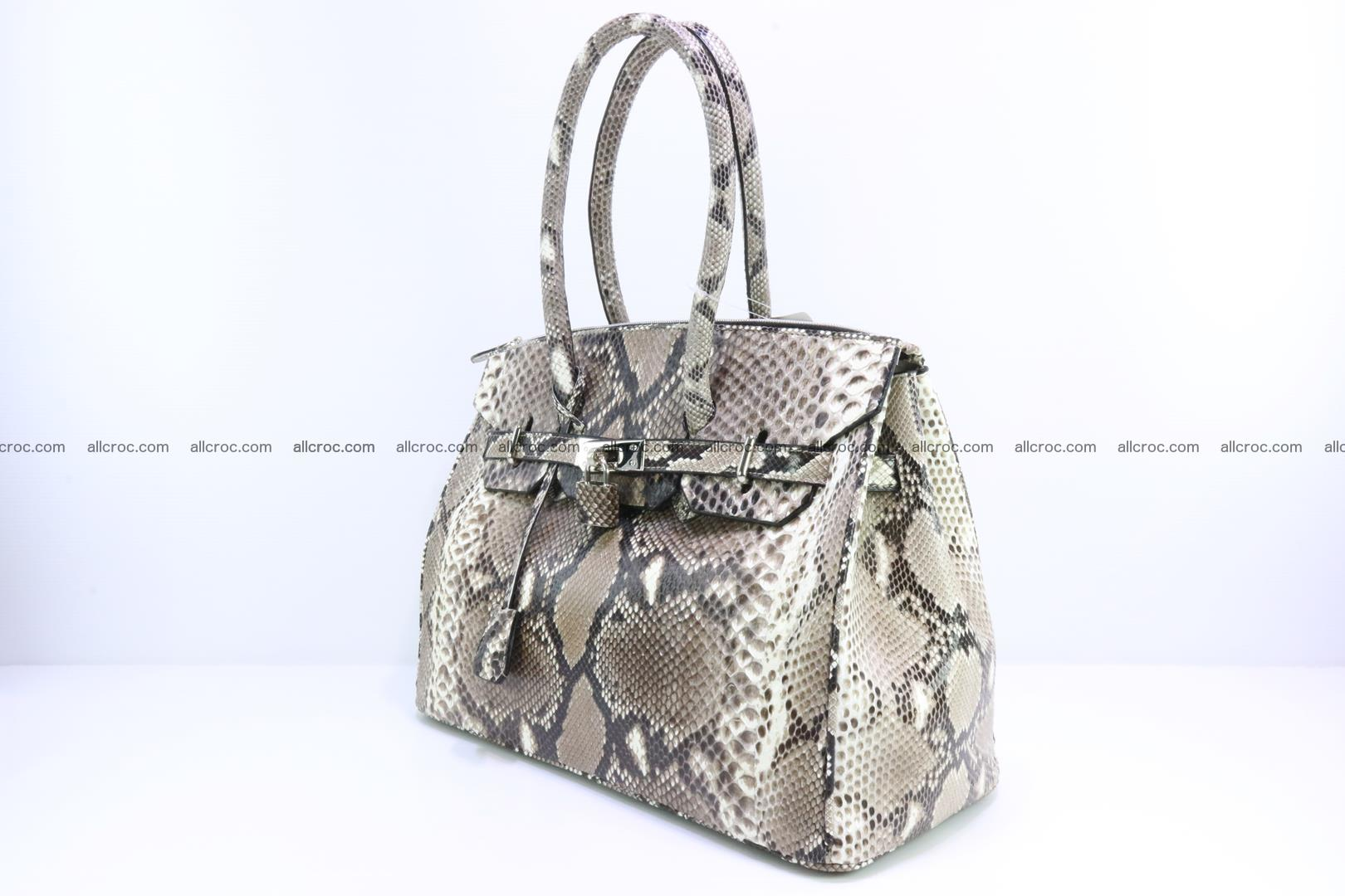 Python skin women's handbag replica of Birkin 200 Foto 2