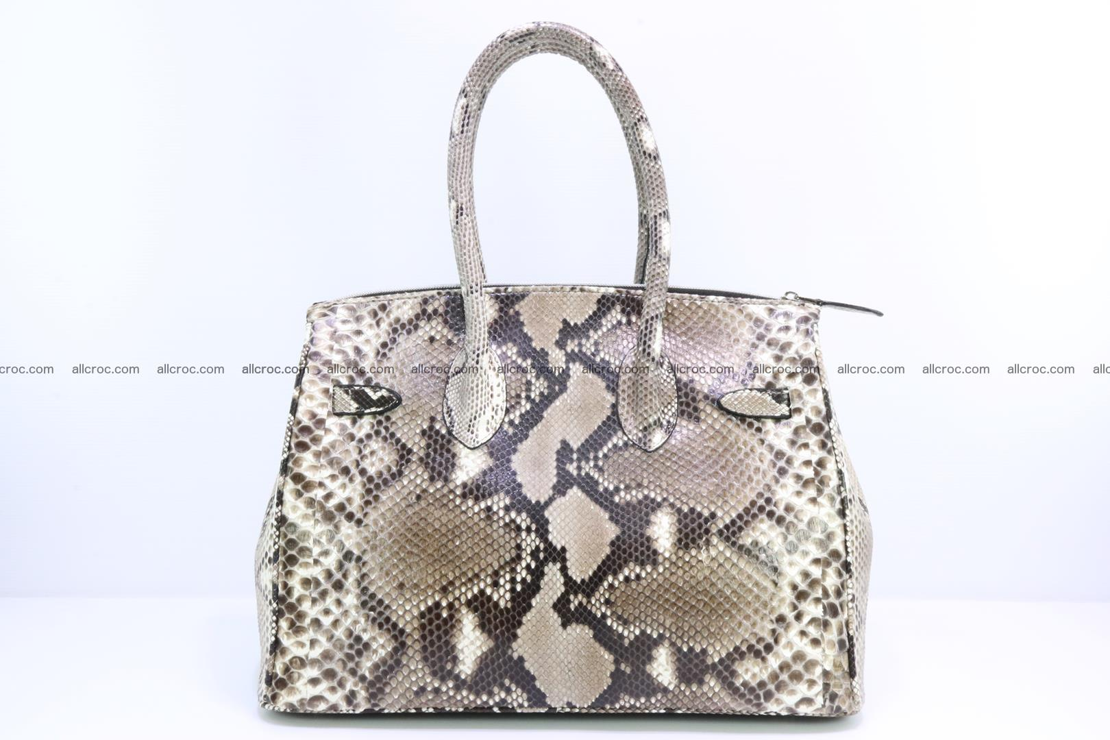 Python skin women's handbag replica of Birkin 200 Foto 3