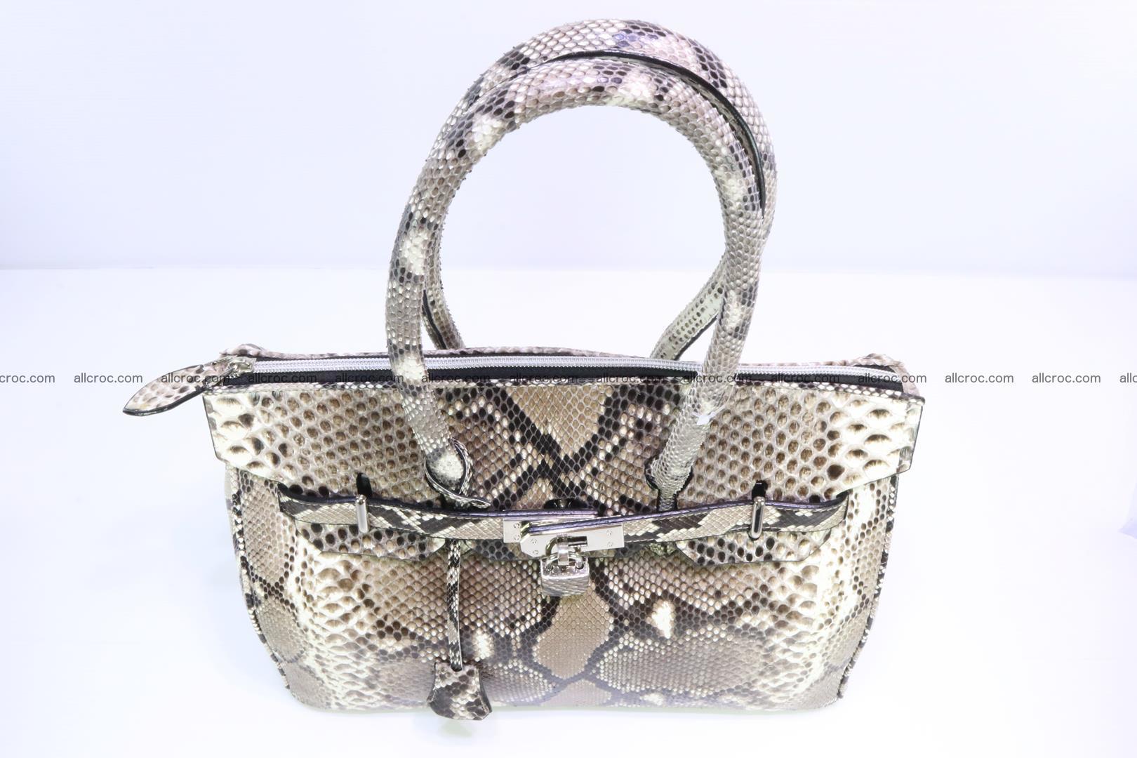 Python skin women's handbag replica of Birkin 200 Foto 6