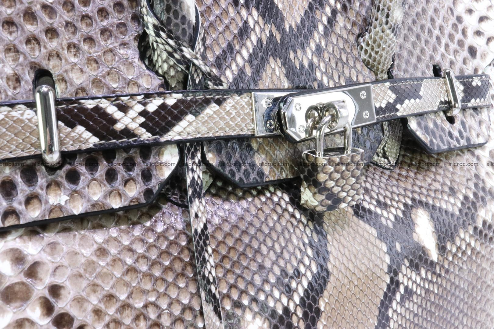 Python skin women's handbag replica of Birkin 200 Foto 8