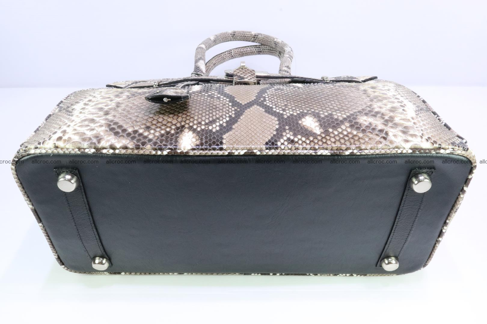 Python skin women's handbag replica of Birkin 200 Foto 7