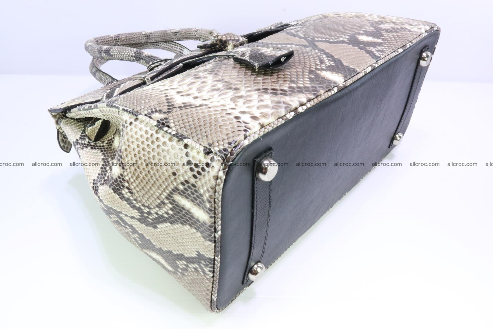 Python skin women's handbag replica of Birkin 200 Foto 9