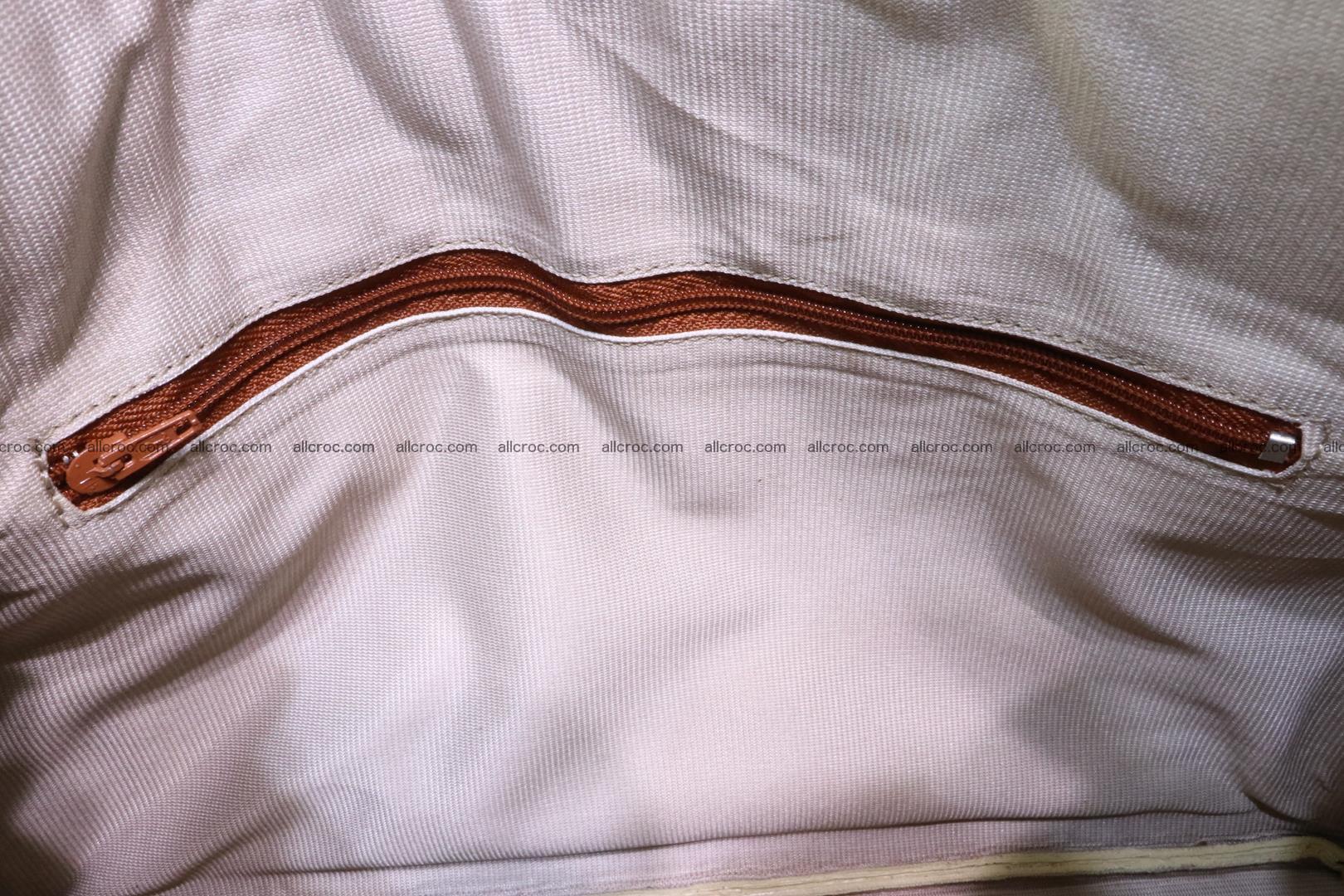 Python skin women's handbag replica of Birkin 200 Foto 14