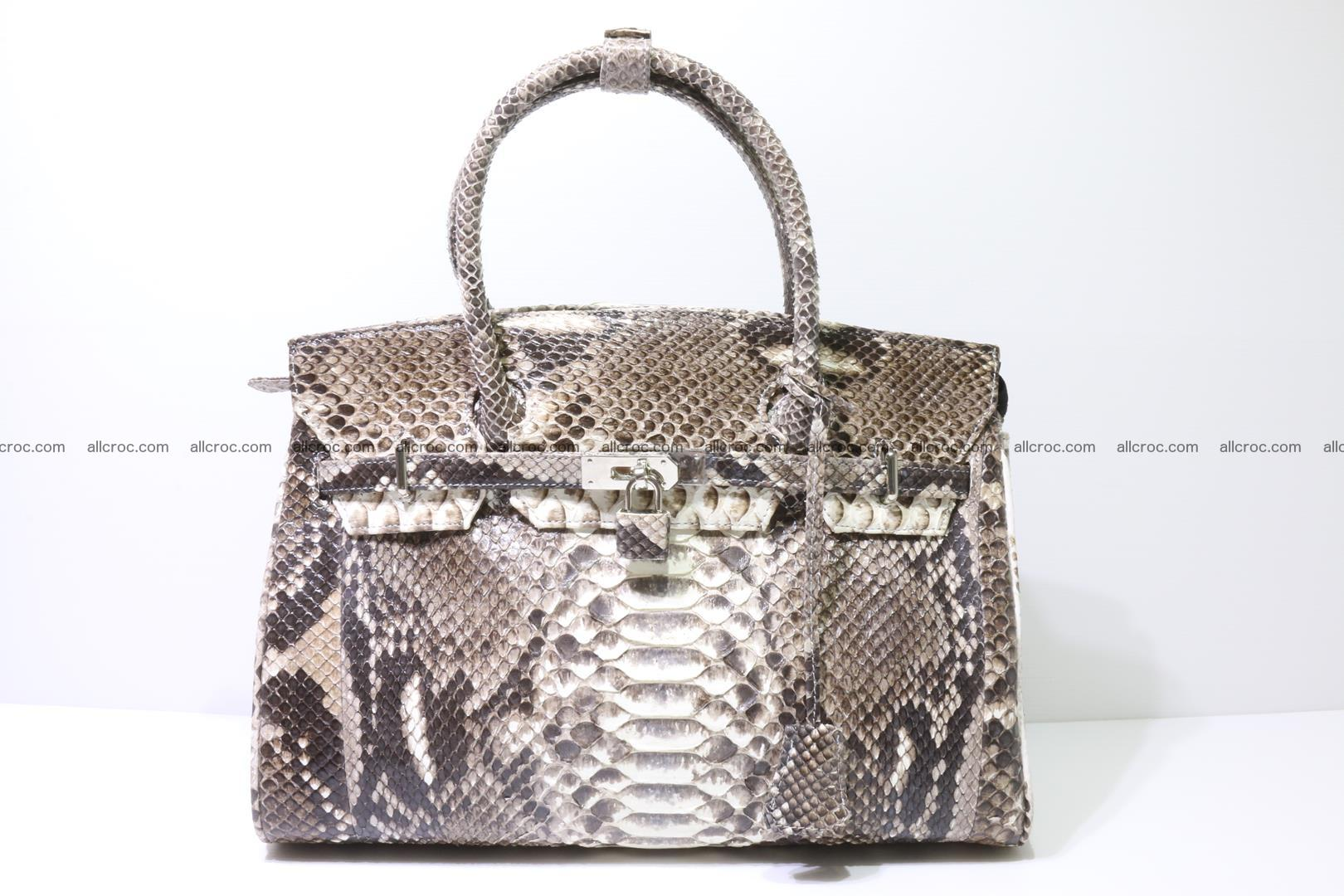 Python skin women's handbag replica of Birkin 211 Foto 0