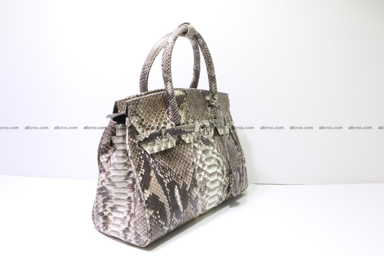 Python skin women's handbag replica of Birkin 211 Foto 1