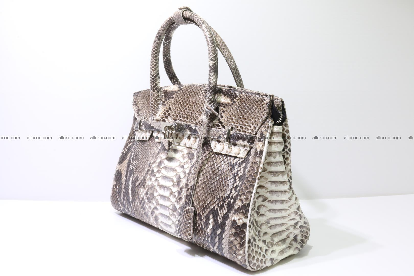 Python skin women's handbag replica of Birkin 211 Foto 2