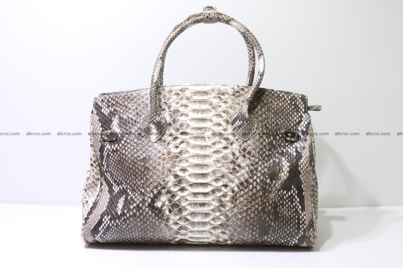 Python skin women's handbag replica of Birkin 211 Foto 4