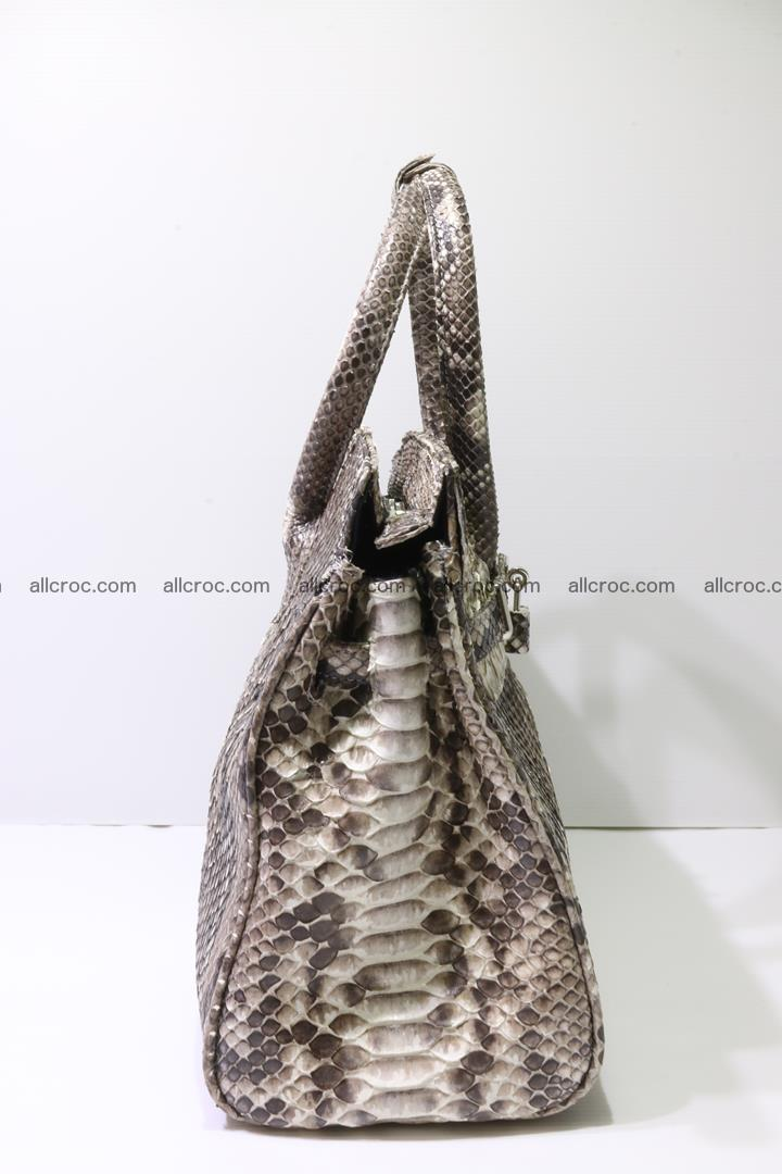 Python skin women's handbag replica of Birkin 211 Foto 3