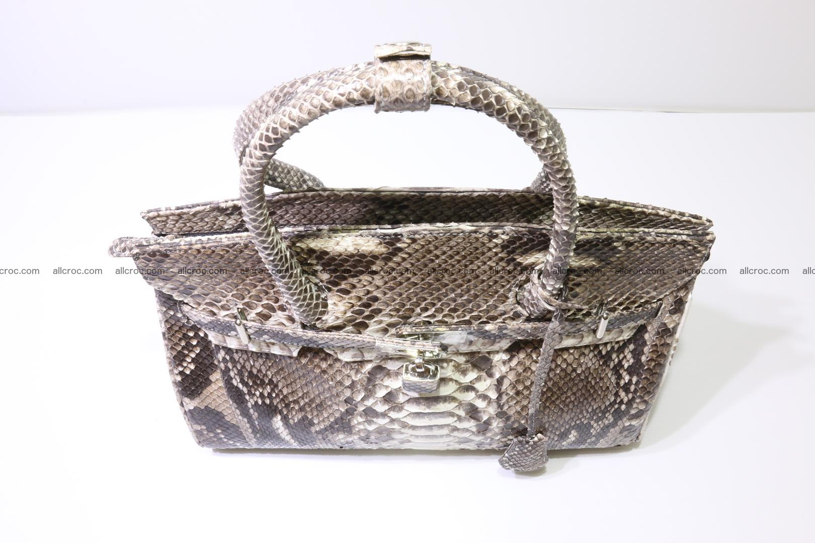 Python skin women's handbag replica of Birkin 211 Foto 6