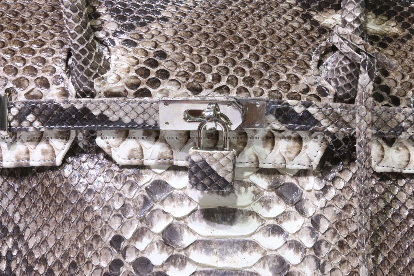 Python skin women's handbag replica of Birkin 211 Foto 9