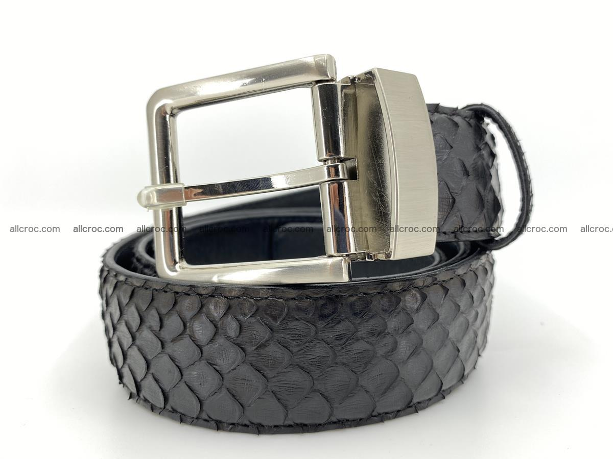 Python snake leather belt 698 Foto 0
