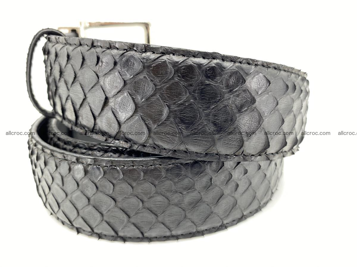 Python snake leather belt 698 Foto 2