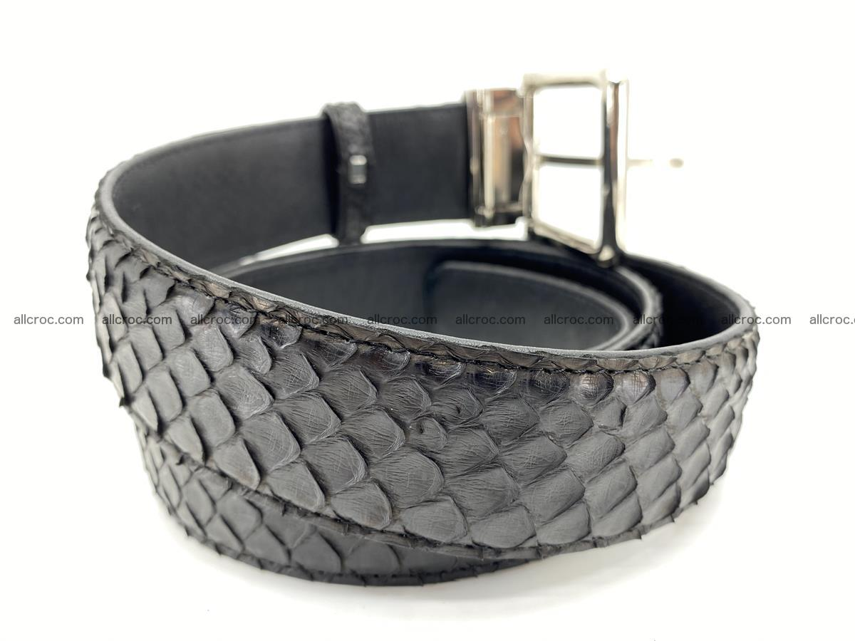 Python snake leather belt 698 Foto 3