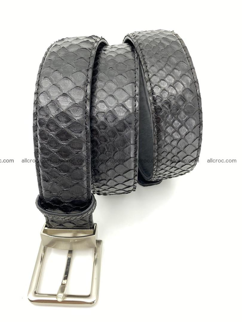 Python snake leather belt 698 Foto 4