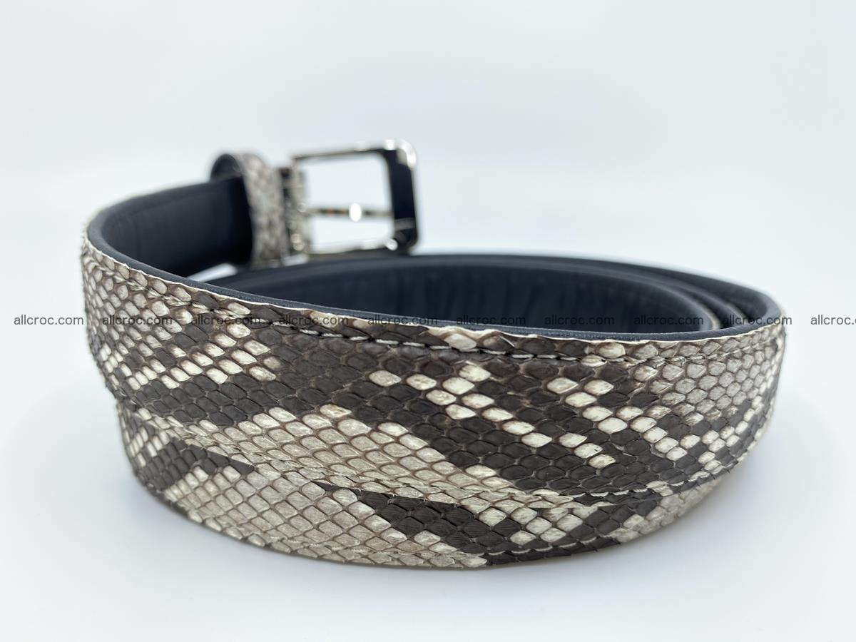 Python snake leather belt 708 Foto 2