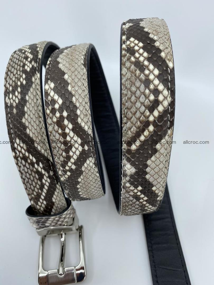 Python snake leather belt 708 Foto 3
