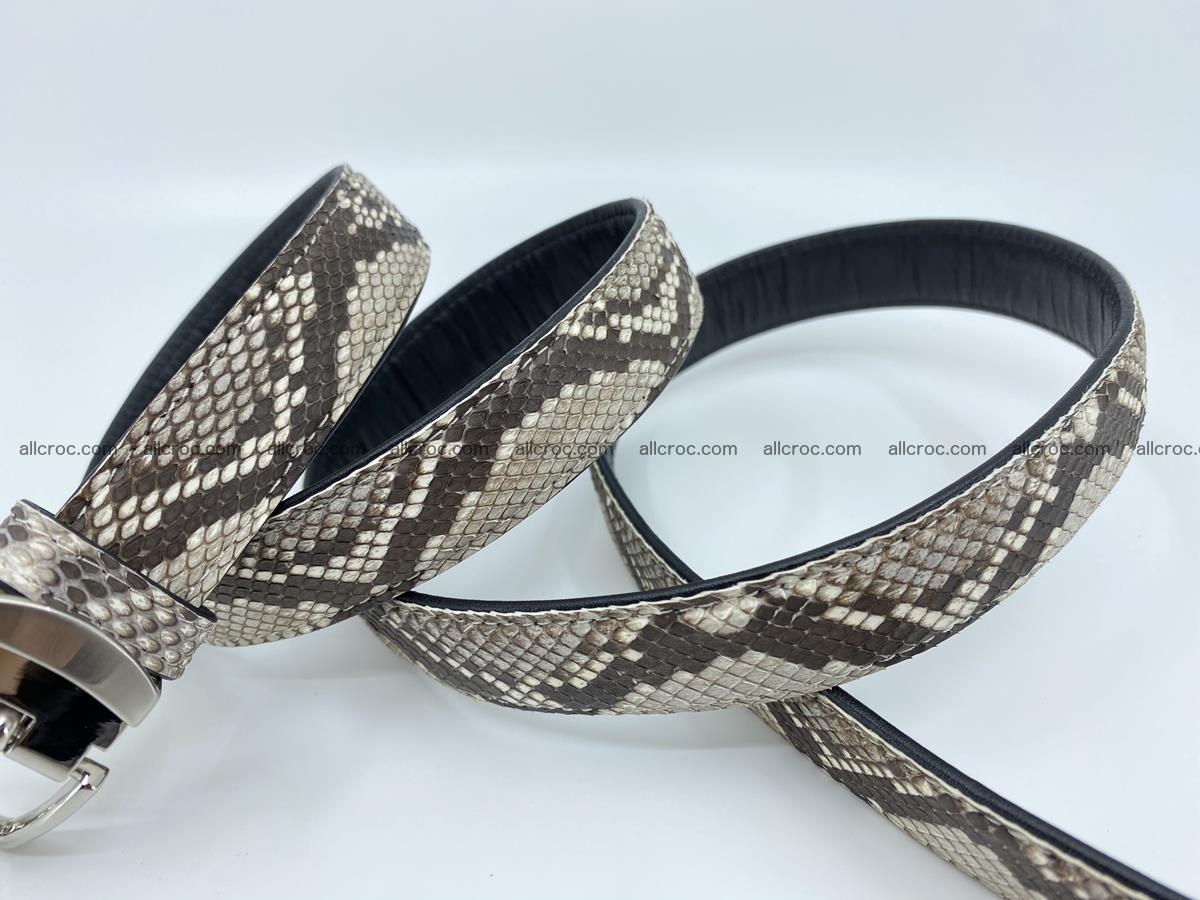 Python snake leather belt 708 Foto 4