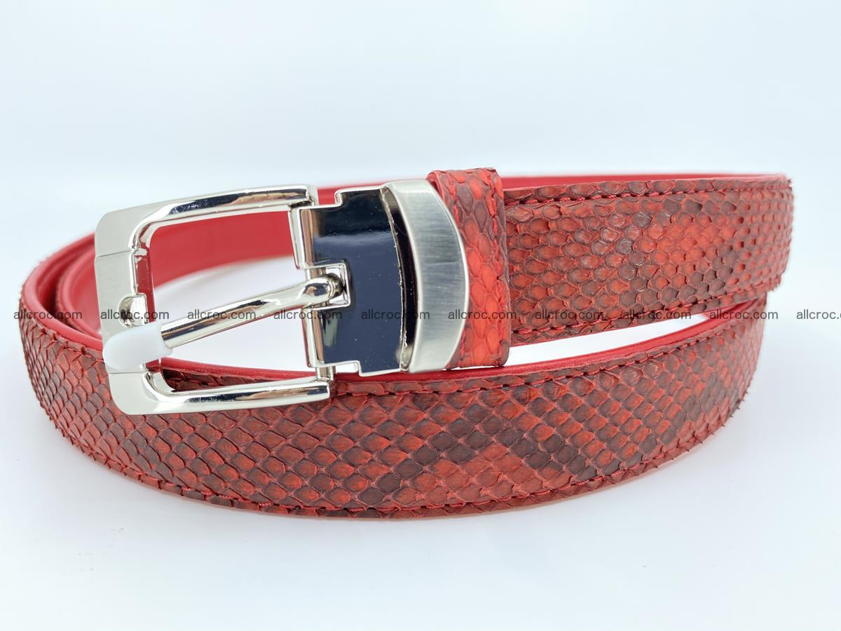 Python snake leather belt 705 Foto 0