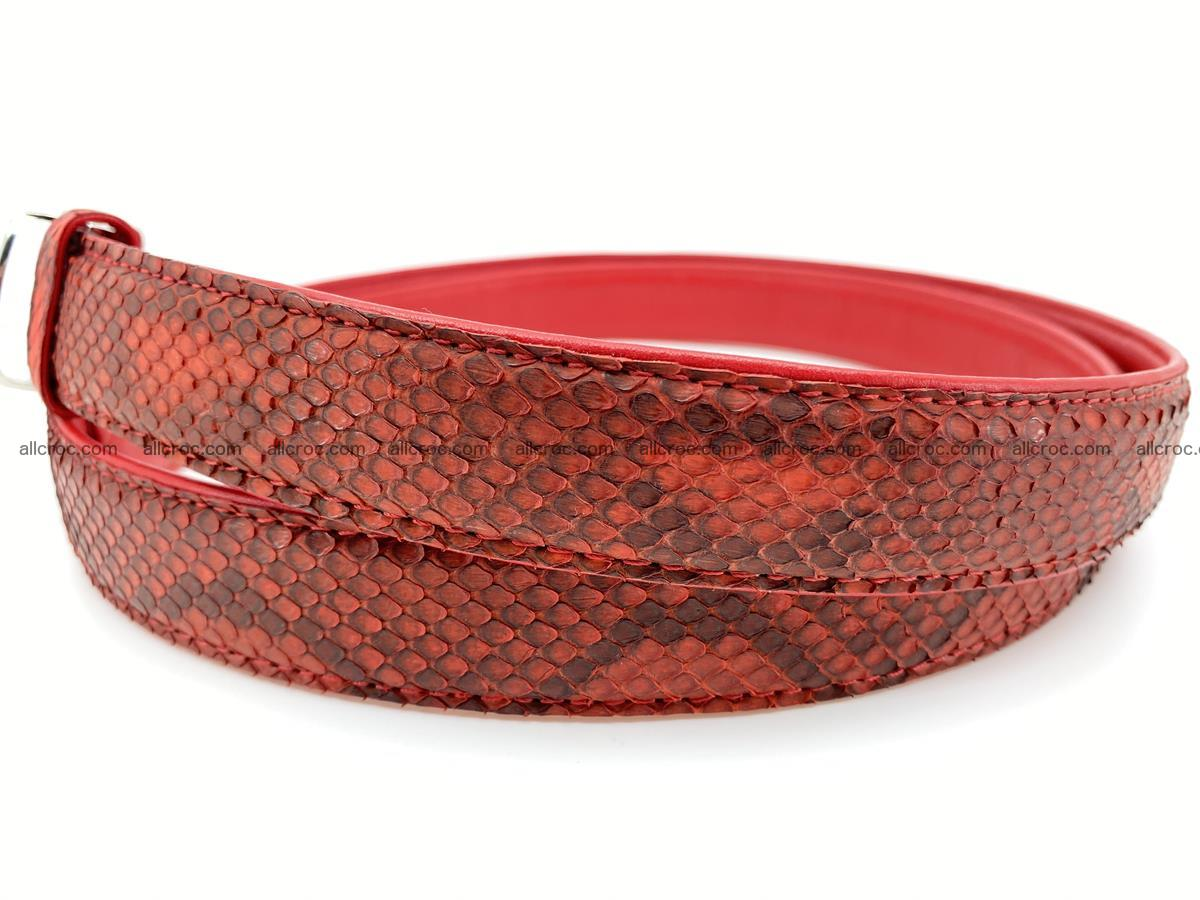 Python snake leather belt 705 Foto 1