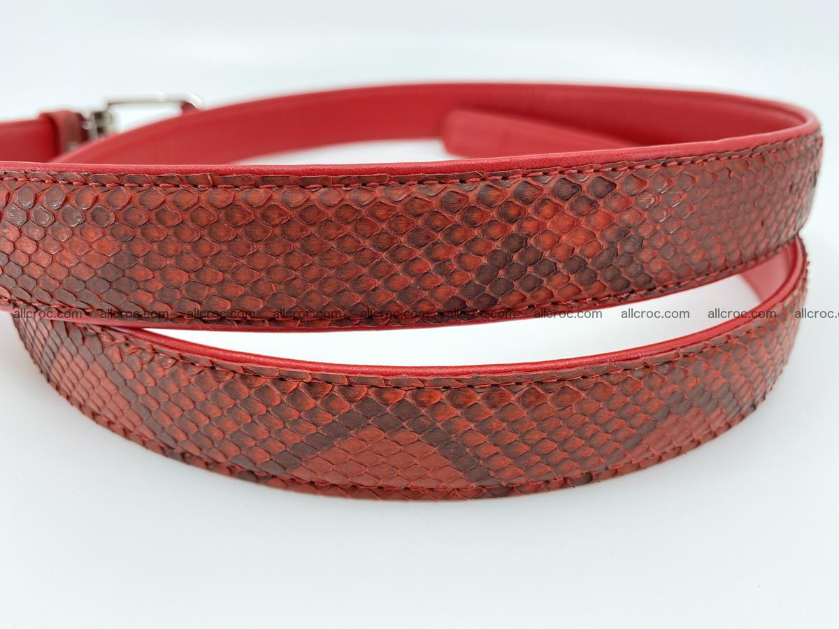 Python snake leather belt 705 Foto 2