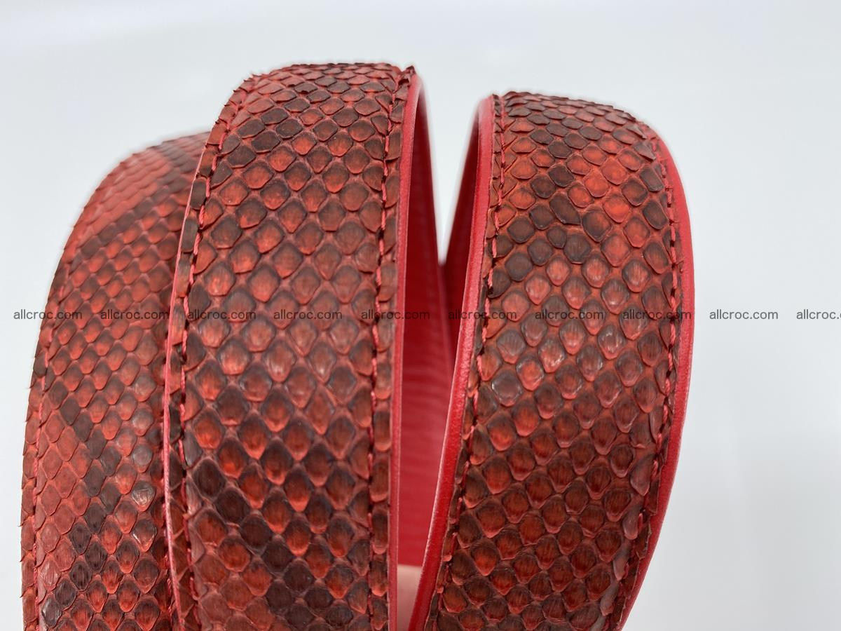 Python snake leather belt 705 Foto 3