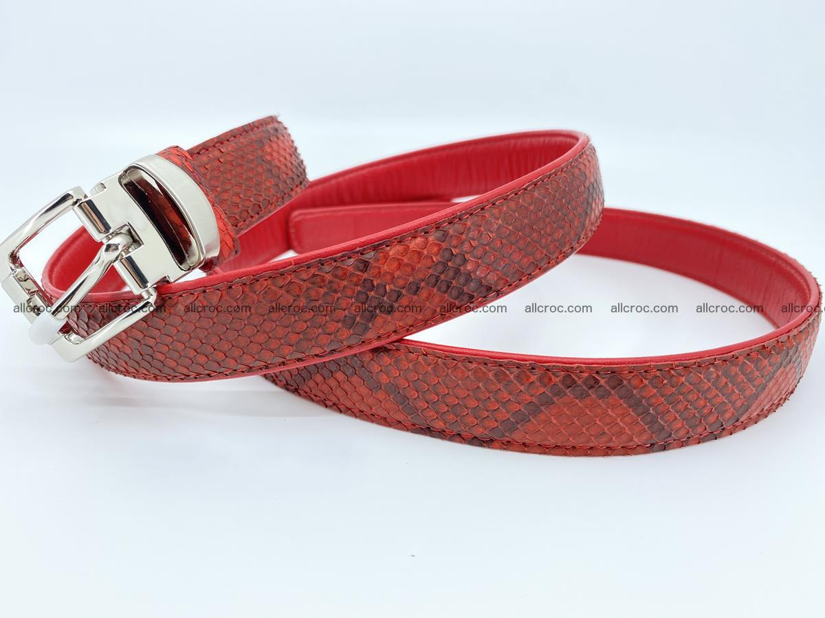 Python snake leather belt 705 Foto 6