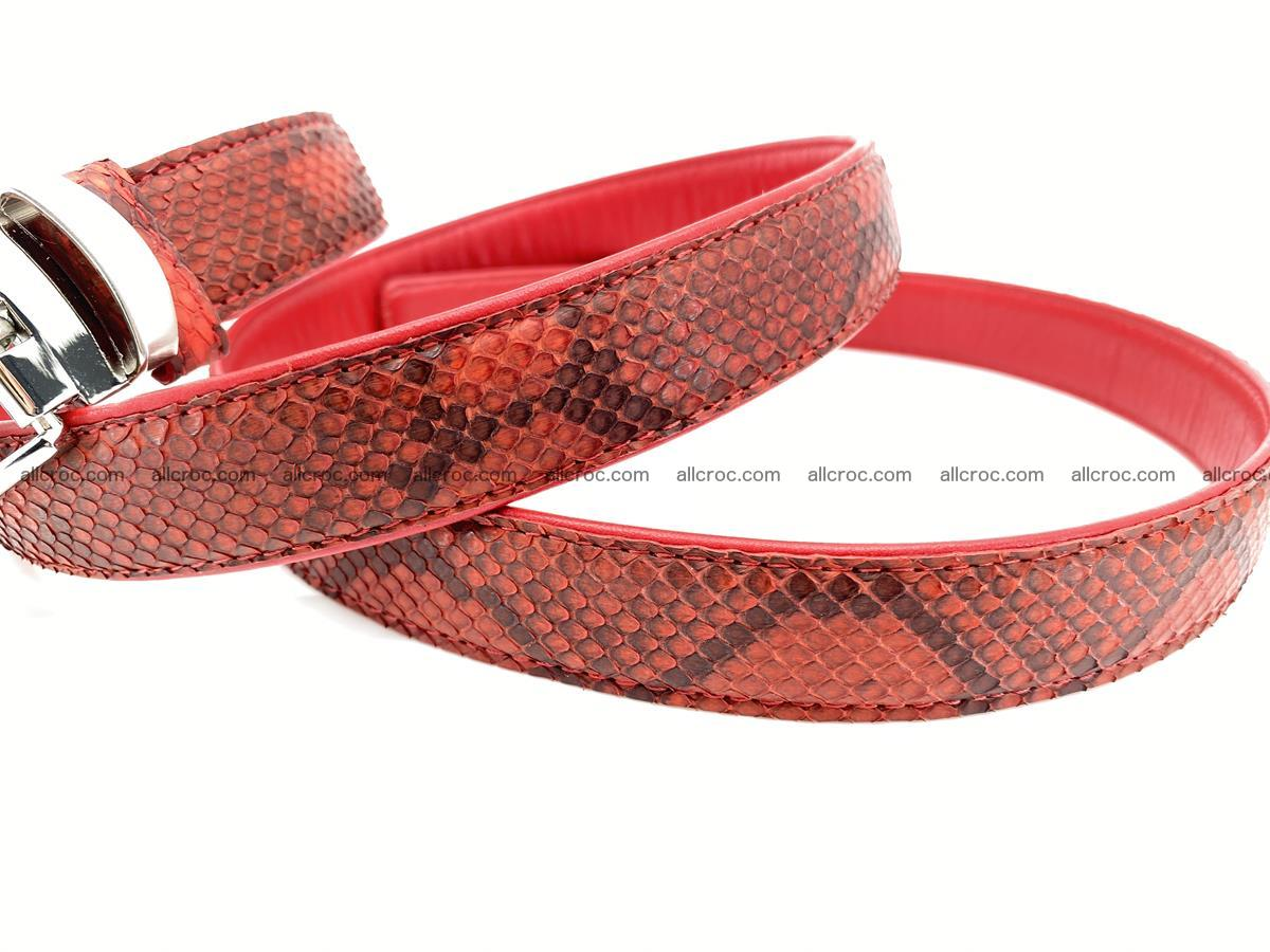 Python snake leather belt 705 Foto 7