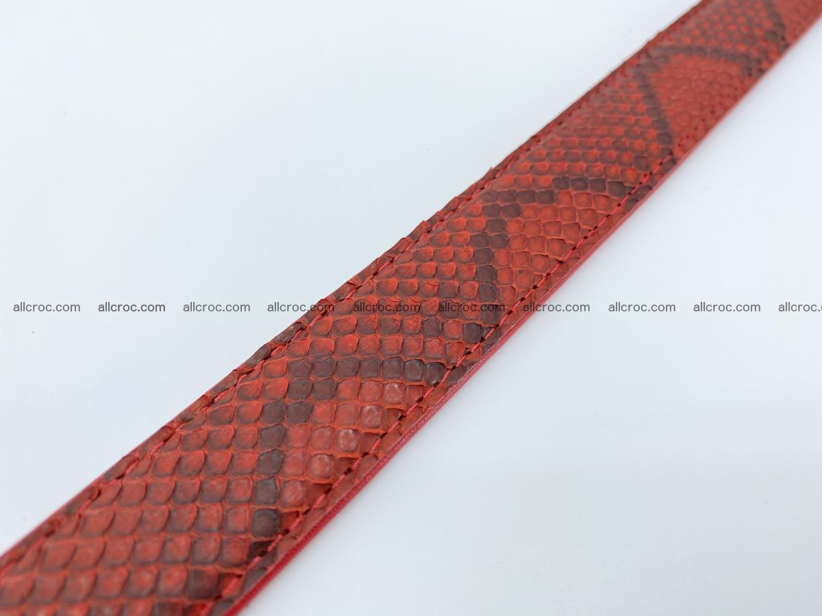 Python snake leather belt 705 Foto 8
