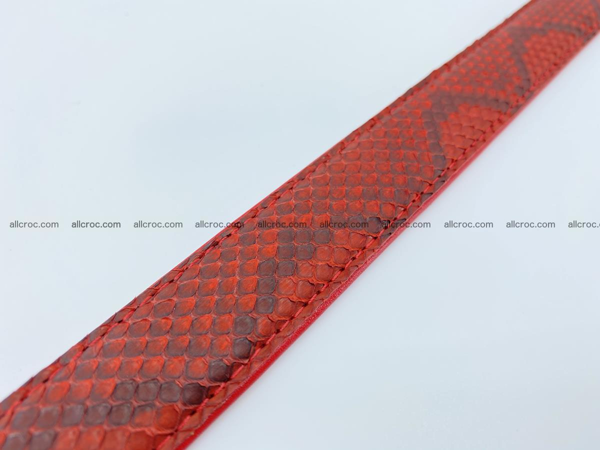 Python snake leather belt 705 Foto 9