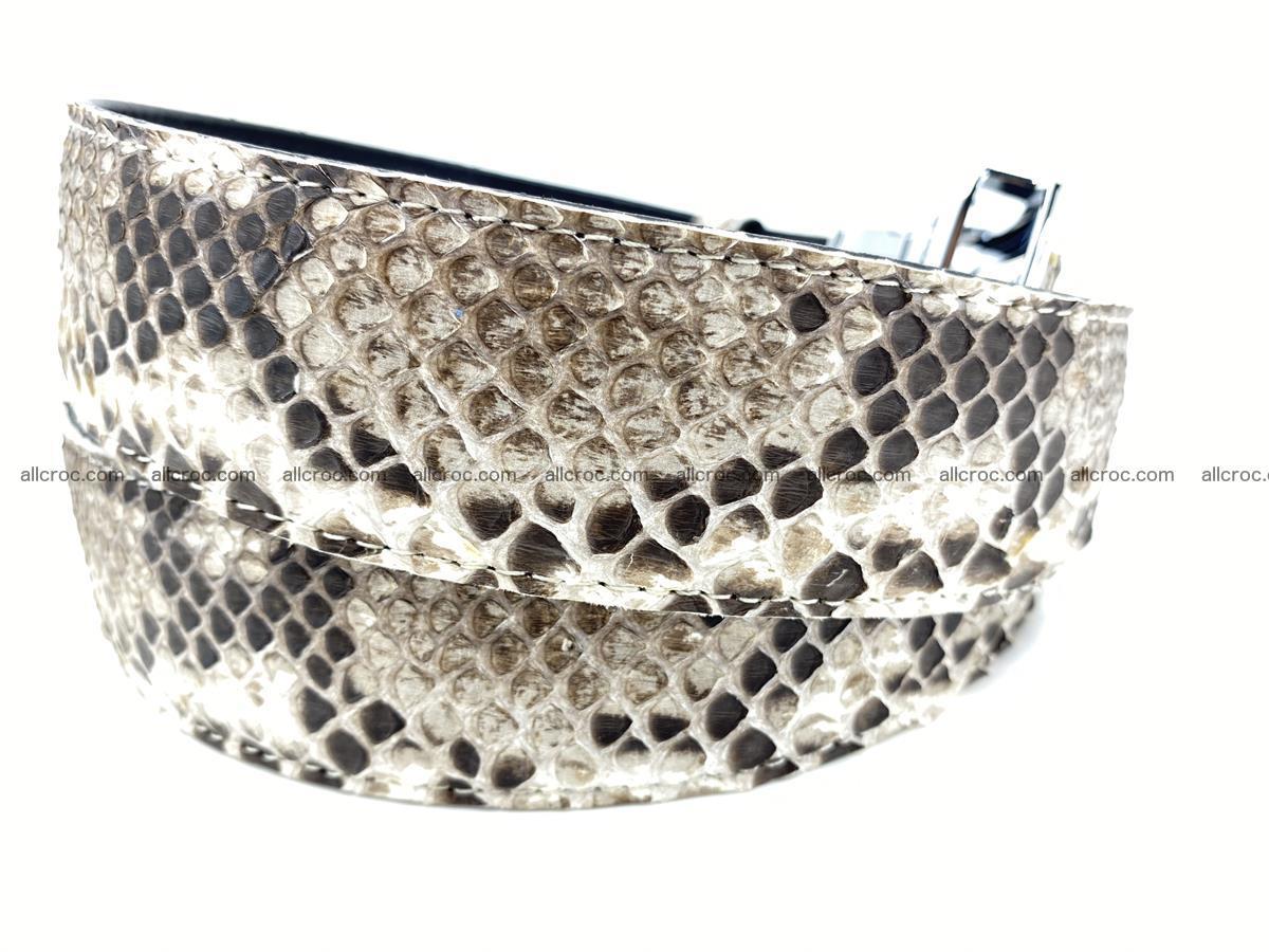 Python snake leather belt 703 Foto 4