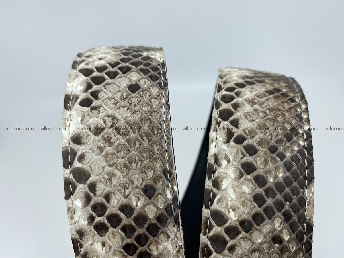 Python snake leather belt 703 Foto 14