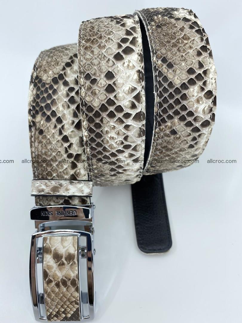 Python snake leather belt 703 Foto 6