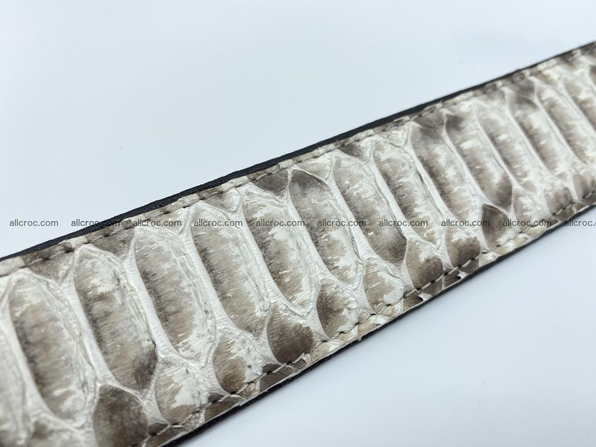 Python snake leather belt 702 Foto 10