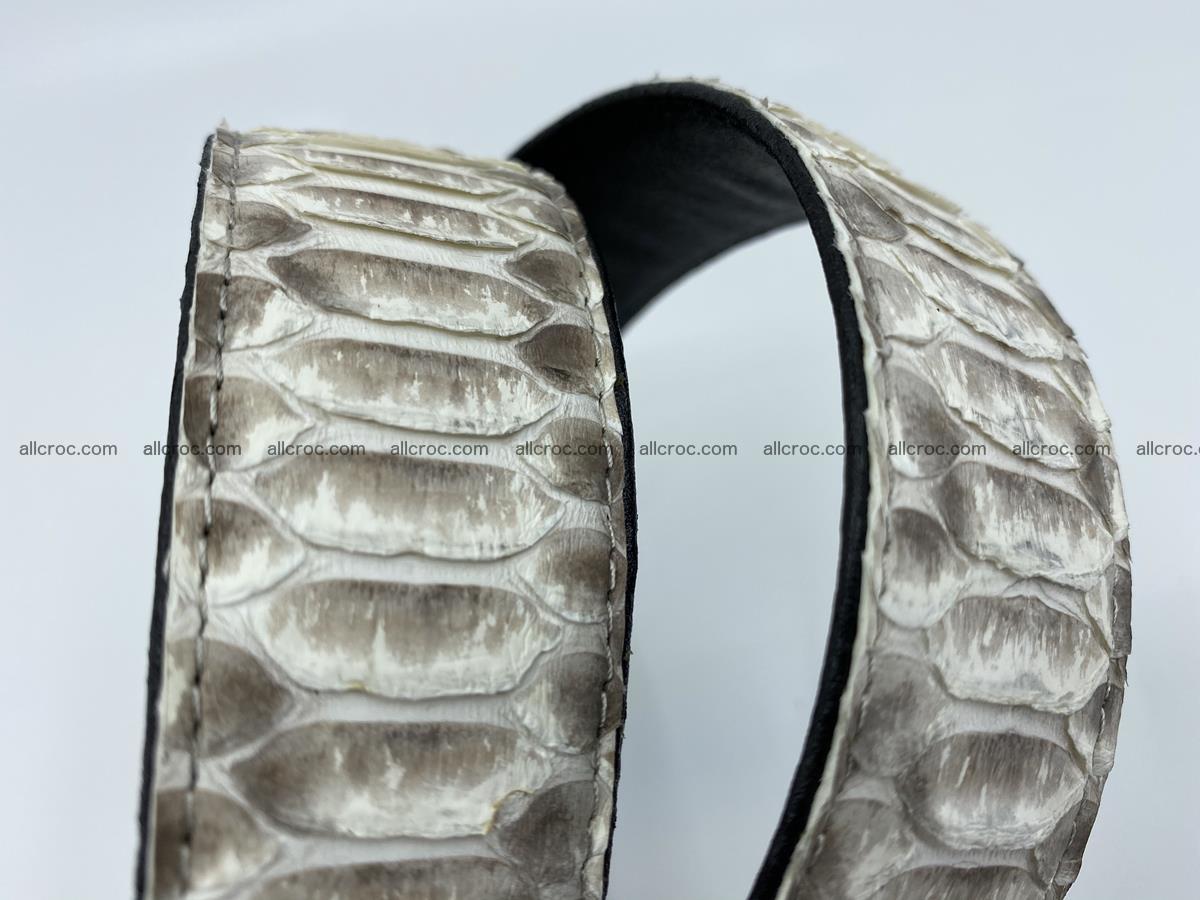 Python snake leather belt 702 Foto 11