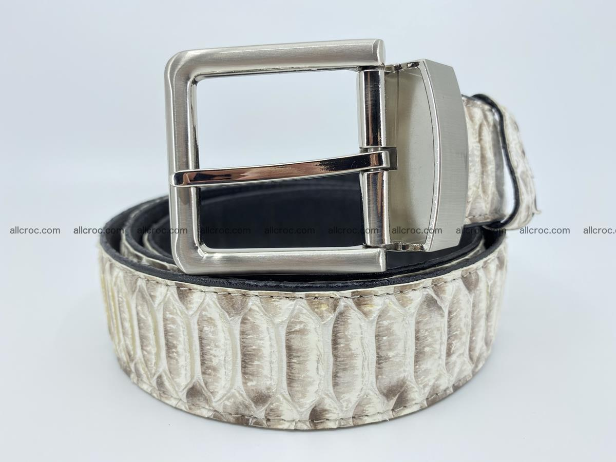 Python snake leather belt 702 Foto 0