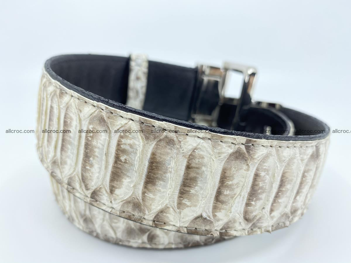 Python snake leather belt 702 Foto 3