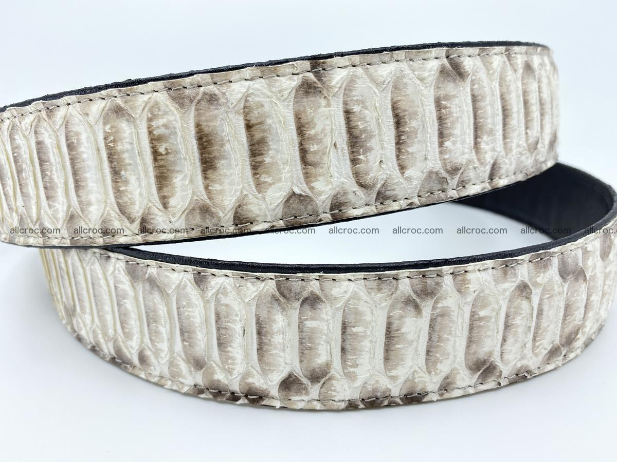 Python snake leather belt 702 Foto 4