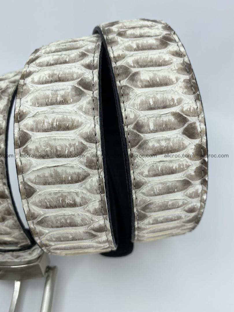 Python snake leather belt 702 Foto 6