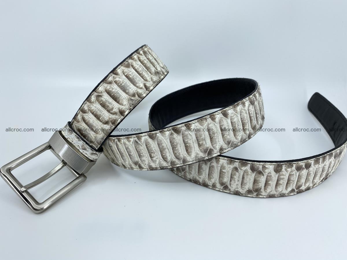 Python snake leather belt 702 Foto 7